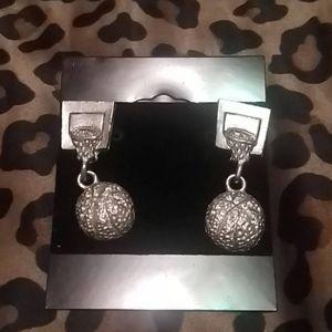 Basketball Hoop/Ball earrings